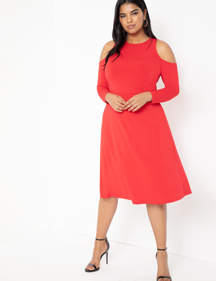 ELOQUII Cold Shoulder Dress