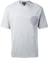Emporio Armani logo patch T-shirt - men - Cotton - XS
