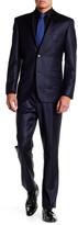 Ike Behar Navy Two Button Notch Lapel Wool Suit