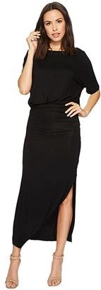 American Rose Daniella Short Sleeve Maxi Dress (Black) Women's Dress