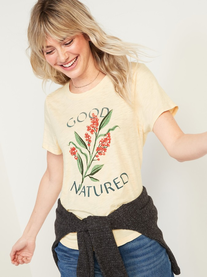 Thumbnail for your product : Old Navy EveryWear Graphic Slub-Knit Tee for Women