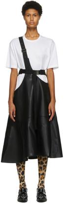 Junya Watanabe Black Faux-Leather One-Strap Suspender Skirt