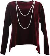 MM6 MAISON MARGIELA Velvet Blouse With Pearls
