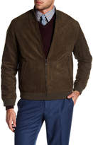 Perry Ellis Faux Suede Bomber