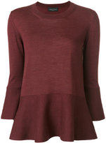 Roberto Collina flared hem knitted blouse - women - Wool - XS