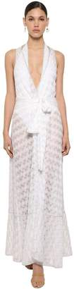 Missoni Belted Lace Knit Lame Cardigan Dress