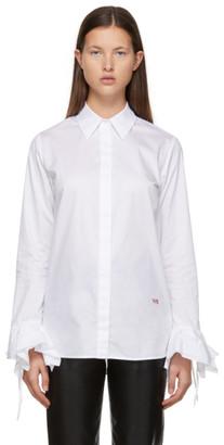 Victoria Victoria Beckham White Flounce Cuff Shirt