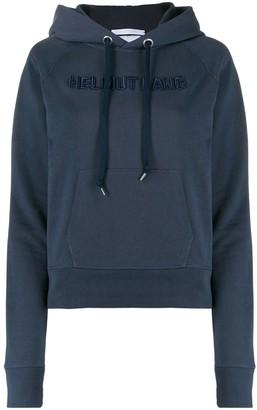 Helmut Lang Logo-Embroidered Hooded Sweatshirt