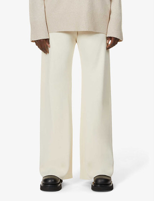 The Row Gala wide-leg high-rise woven trousers