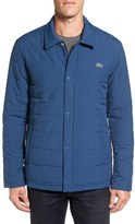 Lacoste Men's Quilted Water Resistant Car Coat