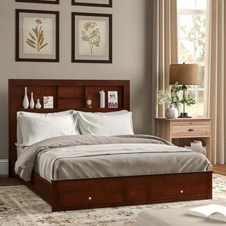 Three Posts Kennon Storage Platform Bed Size: Queen, Color: Cherry