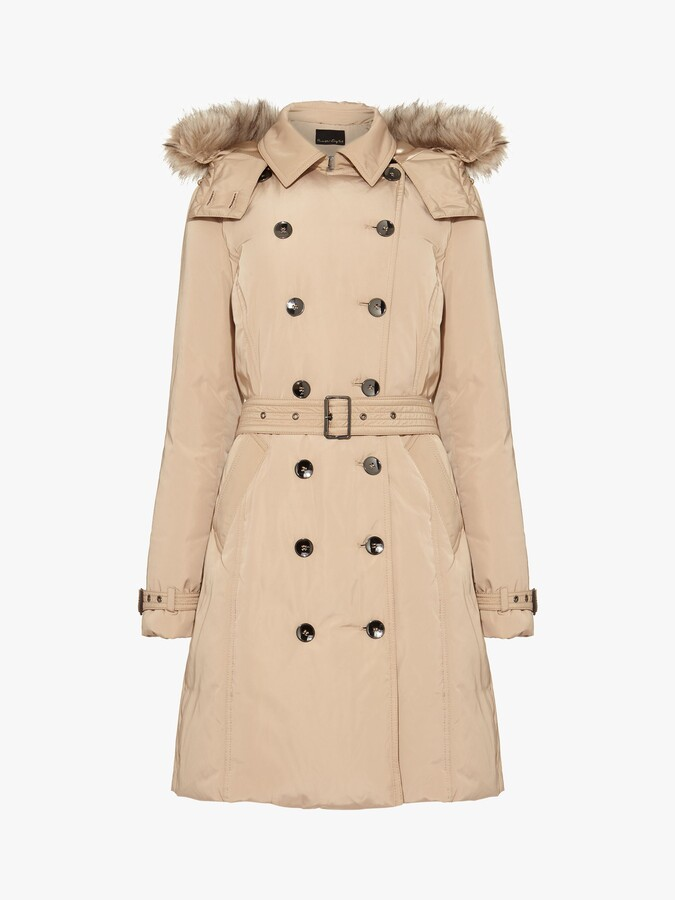 Thumbnail for your product : Phase Eight Nicole Faux Fur Puffer Coat
