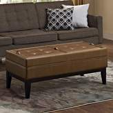 Simpli Home Castlerock Large Rectangular Storage Ottoman Bench