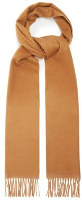 Johnstons of Elgin Fringed Cashmere Scarf - Brown