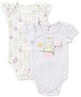 Baby Starters Baby Girls 3-12 Months Owl Cap-Sleeve Bodysuit Two-Pack