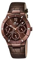 Lotus Women's Quartz Watch with Brown Dial Analogue Display and Brown Leather Strap 15918/2