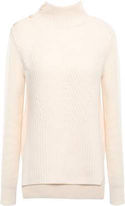 Veronica Beard Rama Ribbed Merino Wool And Cashmere-blend Turtleneck Sweater