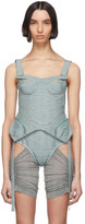 Charlotte Knowles Blue Check Tactical Bustier