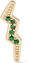 Andrea Fohrman Mini Bolt 14-karat Gold Emerald Earring