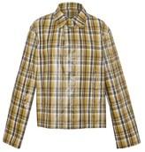 Uniforme Checked oversized jacket