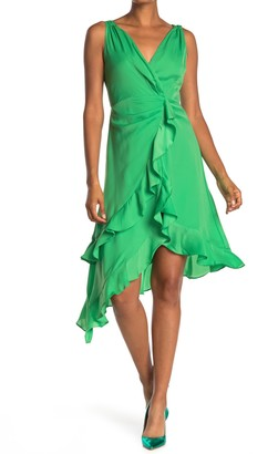Do & Be Surplice Neck Sleeveless Ruffle Dress
