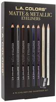 L.A. Colors Matte/Metallic Eyeliner 9 Piece Set