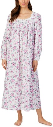 Eileen West Long Sleeve Cotton Lawn Nightgown
