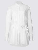 Twiggy Pure Cotton Long Sleeve Longline Shirt