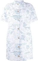 Kenzo Mermaid Print Shirt Dress