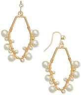 INC International Concepts Robert Rose for Gold-Tone Imitation Pearl Wire Wrap Drop Earrings, Created for Macy's