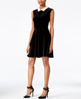 Betsey Johnson Velvet Fit & Flare Dress