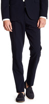 "Brooks Brothers Navy Textured Print Dress Pant - 30-32"" Inseam"