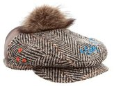 DSQUARED2 Wool Herringbone Driving Hat
