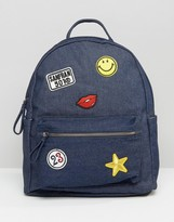 Yoki Fashion Yoki Denim Backpack with Patches