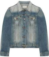 Simon Miller Keyes Cropped Distressed Denim Jacket