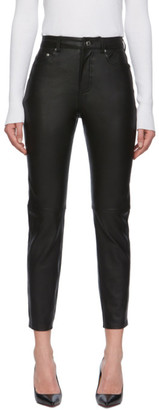 GRLFRND Black Leather Shiloh Trousers