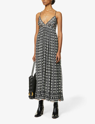 Free People Good Vibes cotton midi dress