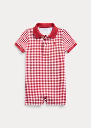 Ralph Lauren Gingham Cotton Polo Shortall
