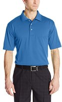 PGA TOUR Men's Golf Solid Plaited Jersey Short Sleeve Polo Shirt
