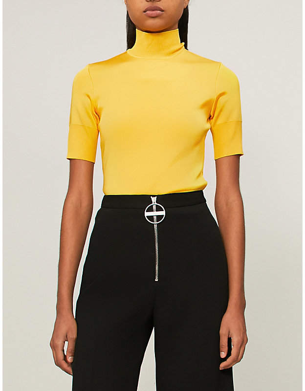 Givenchy High-neck stretch-crepe top