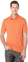 Perry Ellis Short Sleeve Woven Collar Polo