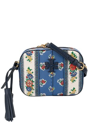 Tory Burch Floral-Print Camera Cross-Body Bag