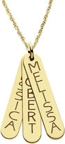 JCPenney FINE JEWELRY Personalized 14K Gold Over Sterling Silver Vertical Bar Name Pendant Necklace