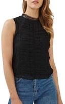 Topshop Women's Ruffle Lace Shell