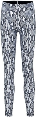 Adam Selman Sport French Cut snake-print leggings