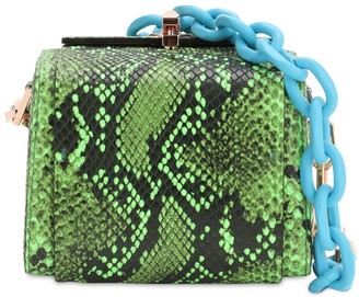 THE VOLON Po Cube Snake Printed Leather Bag