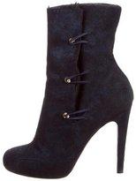 Aperlaï Fur-Trimmed Ankle Boots