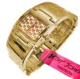 Betsey Johnson BJ00042-02 Gold Tone Hearts Women's Bangle Stainless Steel Bracelet Watch