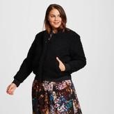 Women's Plus Size Teddy Bear Bomber Jacket - Who What Wear