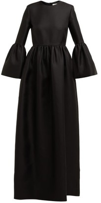 The Row Lora Silk-twill Gown - Womens - Black